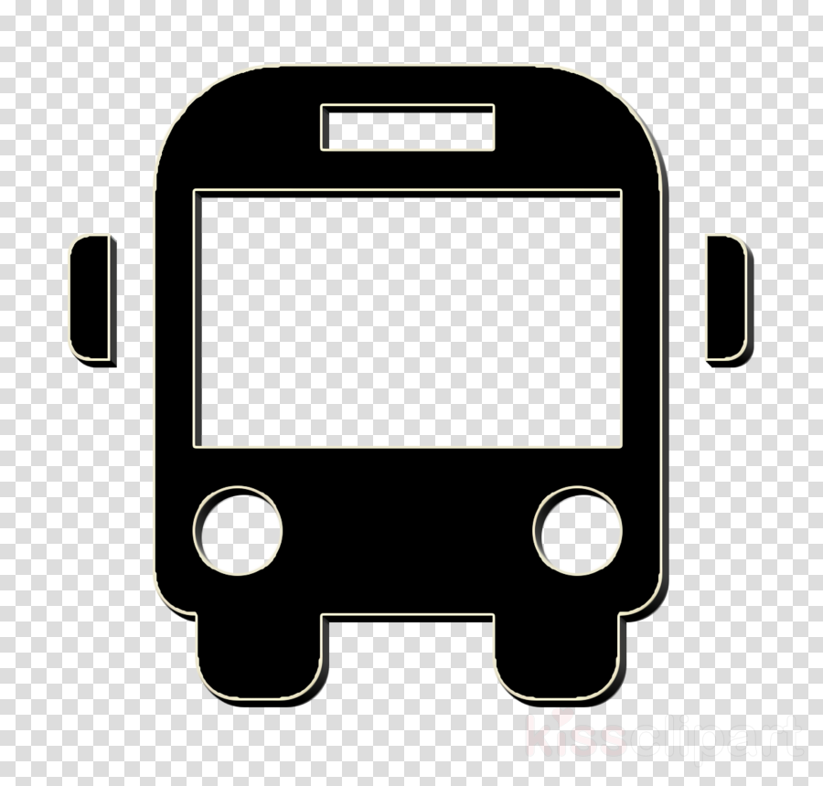 Bus icon School Bus front icon transport icon clipart.