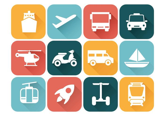 Transportation Icons Vector.