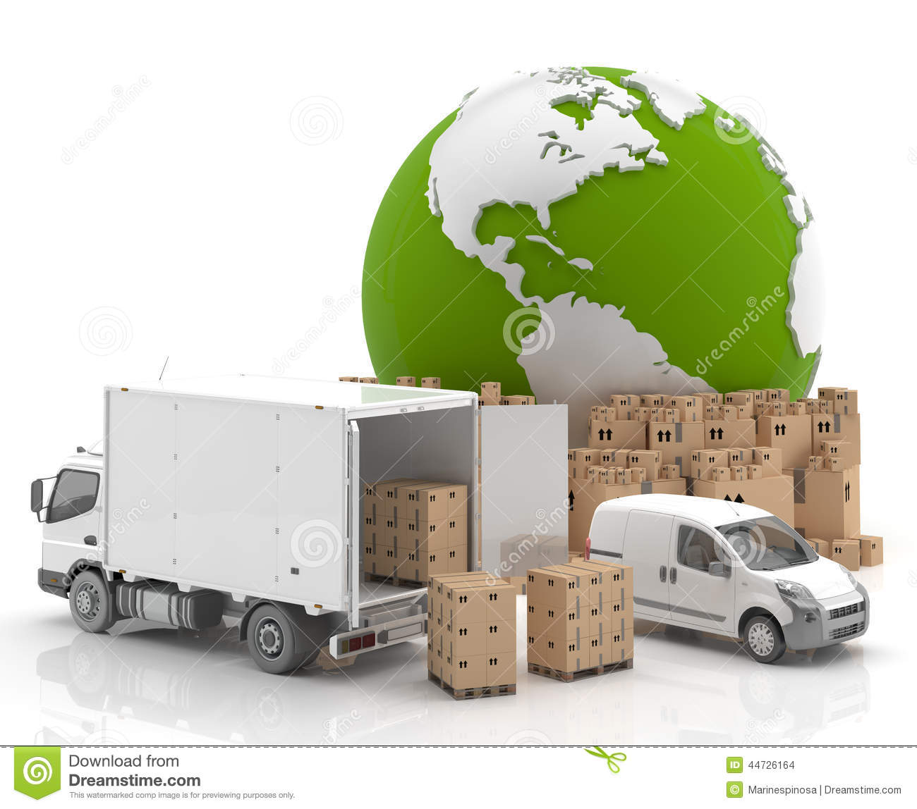 Transportation of goods clipart.