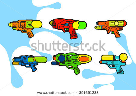 Gun Illustration Squirt Vector Stock Photos, Royalty.