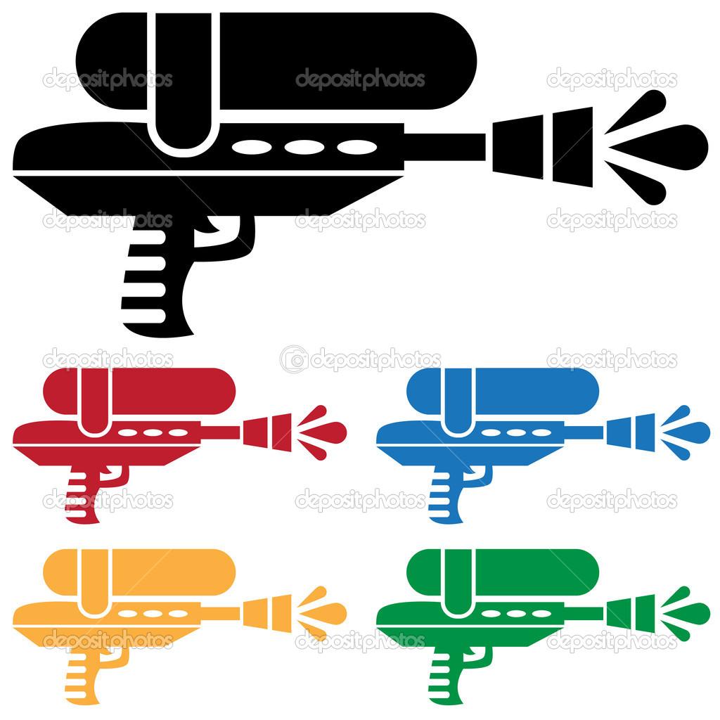 Set of Water Guns — Stock Vector © cteconsulting #4009792.