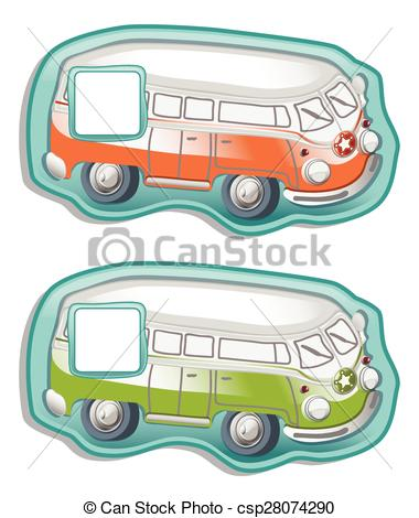 EPS Vectors of Bus like friends panel csp28074290.