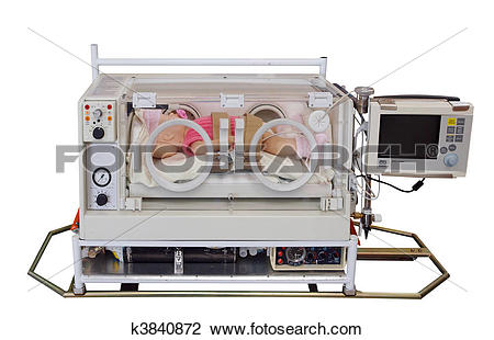 Stock Photo of Doll in Transportable Incubator k3840872.