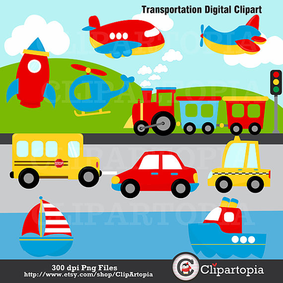 Train Transportation Clipart.