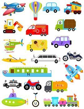 Vehicles & Transportation Alphabet Matching Game A.