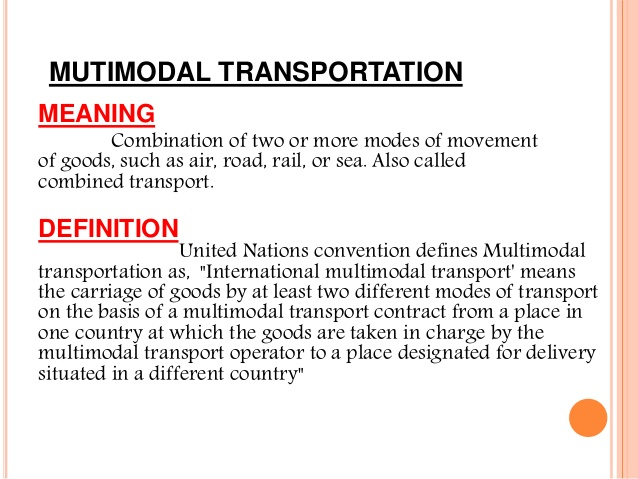 Multi modal transportation.