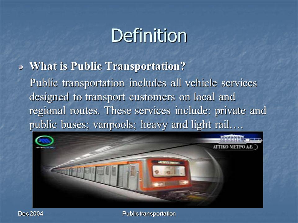 Transportation Definition.