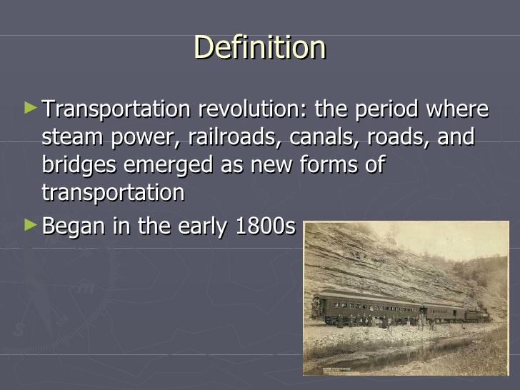Transportation Revolution.
