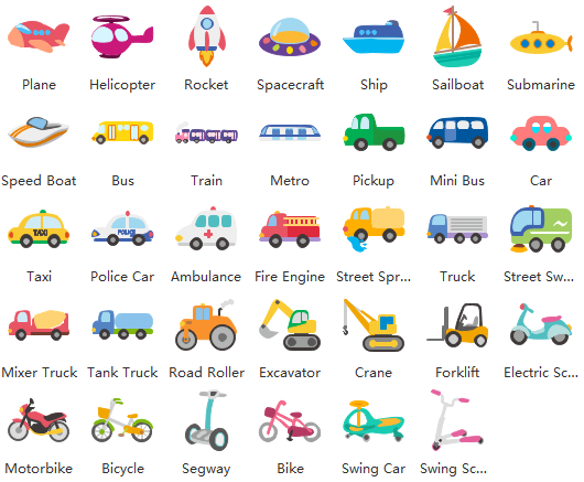 Free Vector Kids Transportation Clipart and Examples.