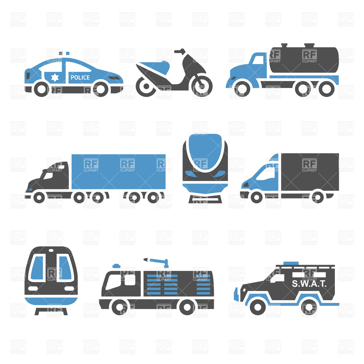 Freight transportation icons.