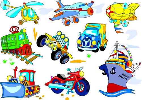 Vector cartoon transport vehicles free vector download (15,102.