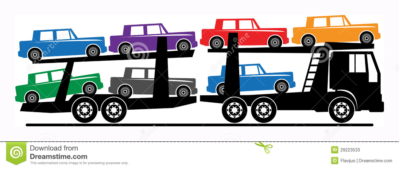 Car transporter clipart.