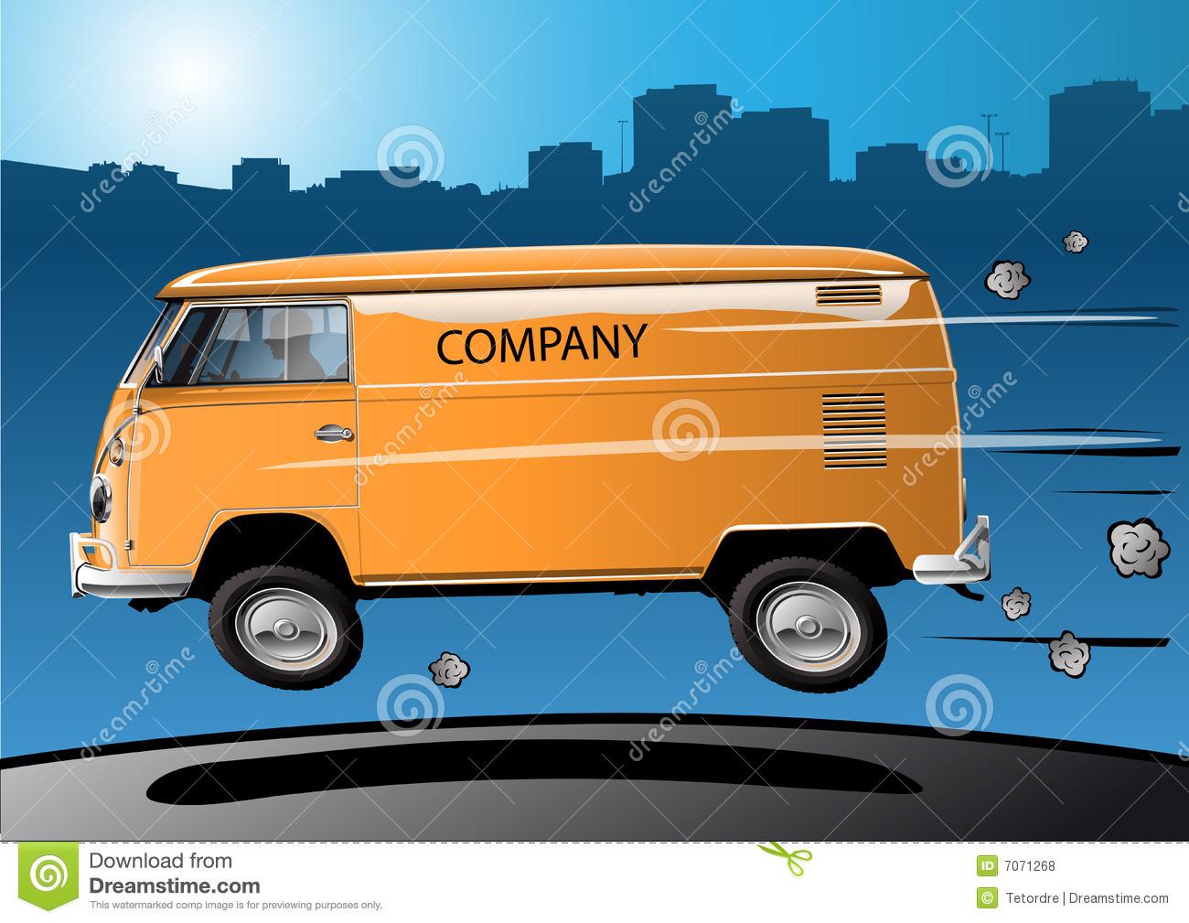 Fast Volkswagen Transporter Royalty Free Stock Photos.