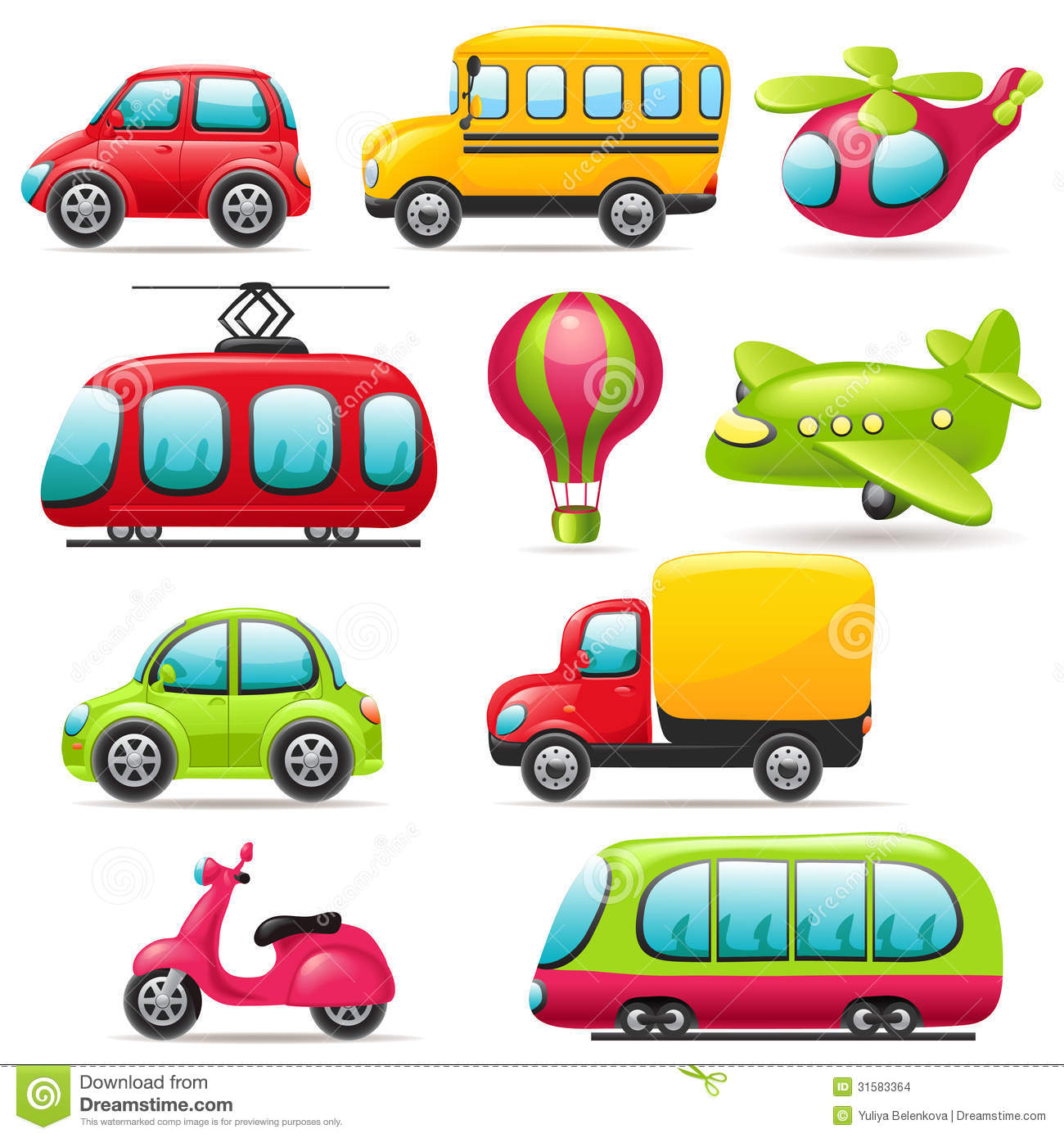 Transportation Cartoon Clipart.