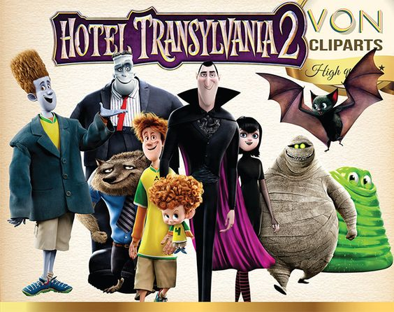 55 Hotel Transylvania Clipart PNG Digital Graphic Image Hotel.