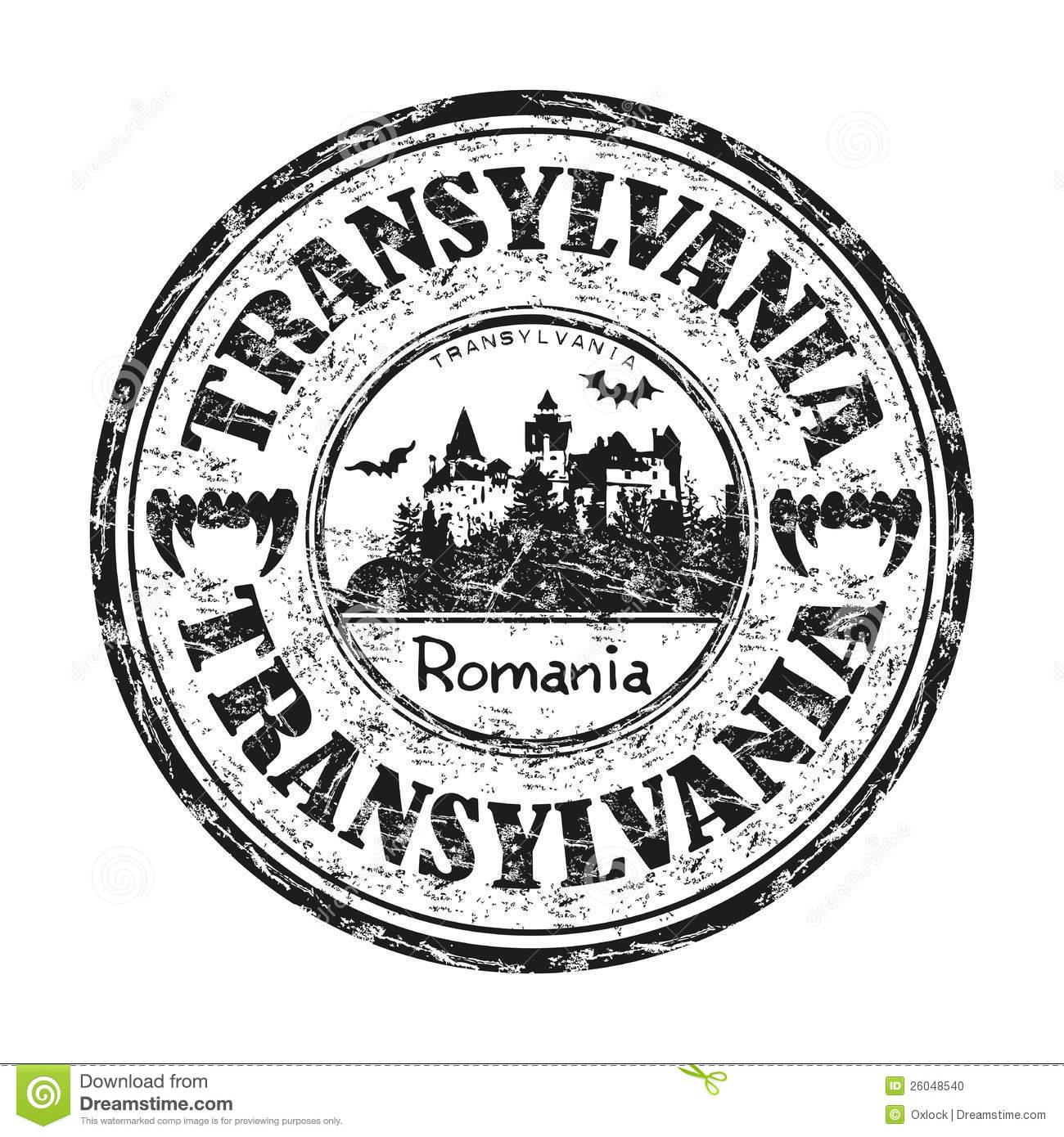Transylvania Rubber Stamp Stock Photo.