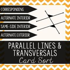 parallel lines cut by a transversal.