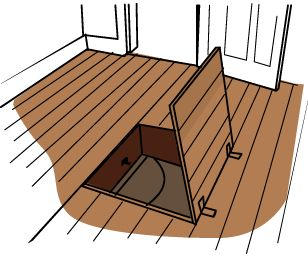 Trap doors.
