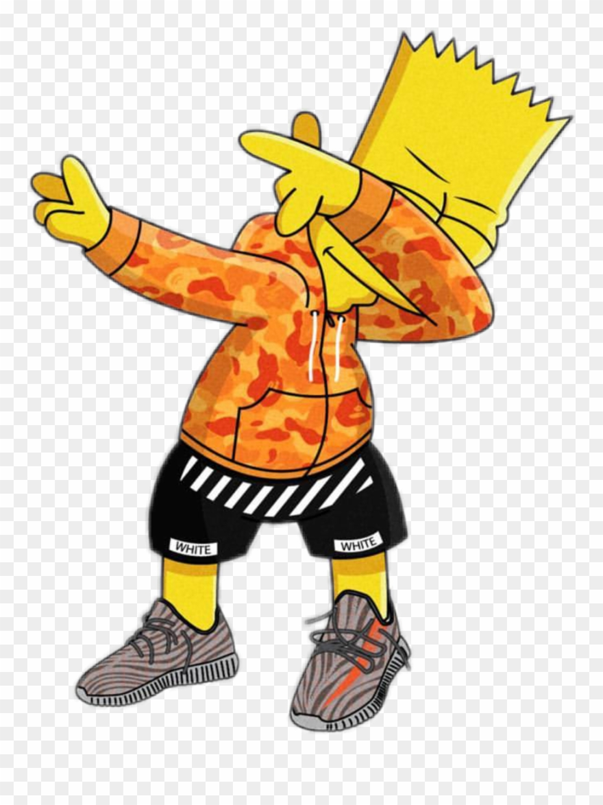 Clip Art Royalty Free Stock Bart Dab Simpson Gang Trap.