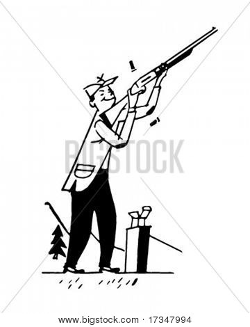 trap shooting clip art.