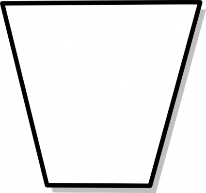 Trapezium Flowchart Symbol clip art Clipart Graphic.