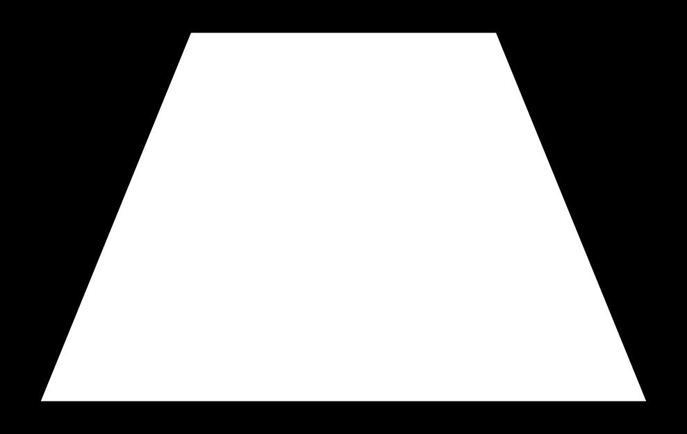 Trapezoid Diecut Sticker.