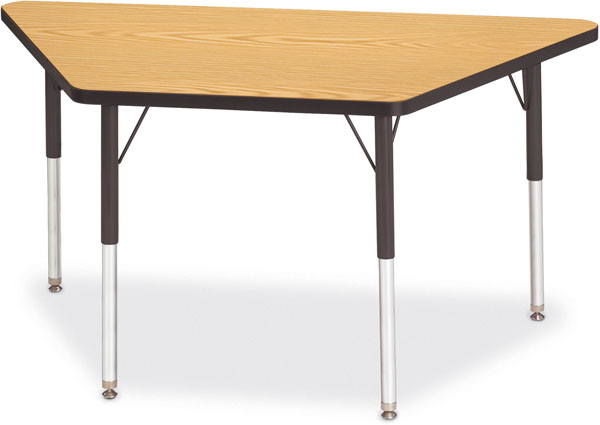 Trapezoid table clipart.
