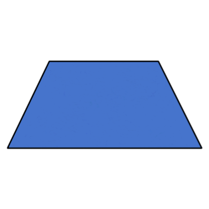 What is a trapezoid shape.