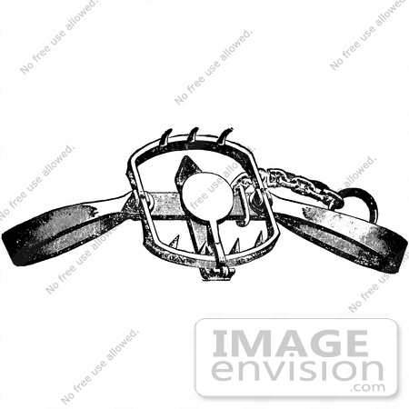 Clipart Of A Steel Animal Trap For Lions Tigers And Beacrs In.