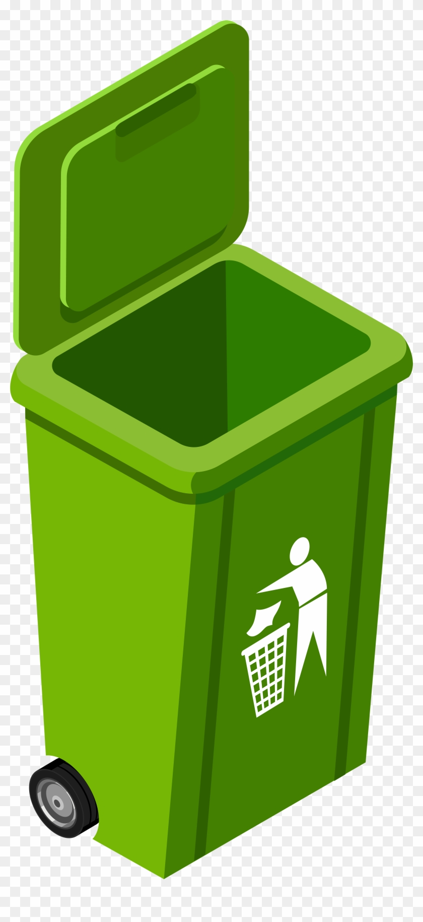 Green Trash Can Png Clip Art Image.
