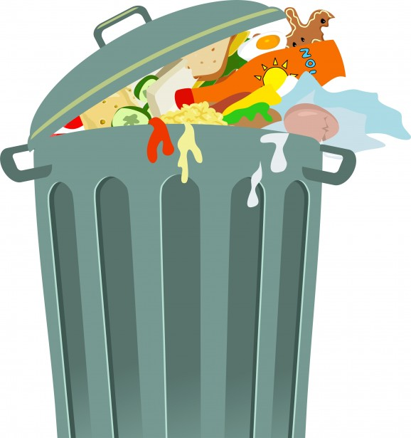 Trash Can Clip Art Free Stock Photo.