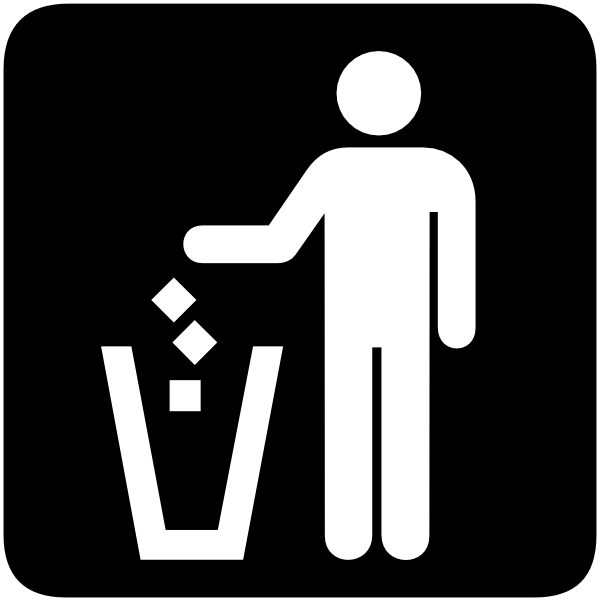 No Trash Clipart.