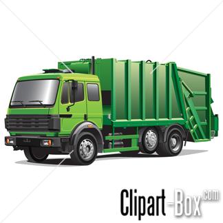 Trash truck clip art.
