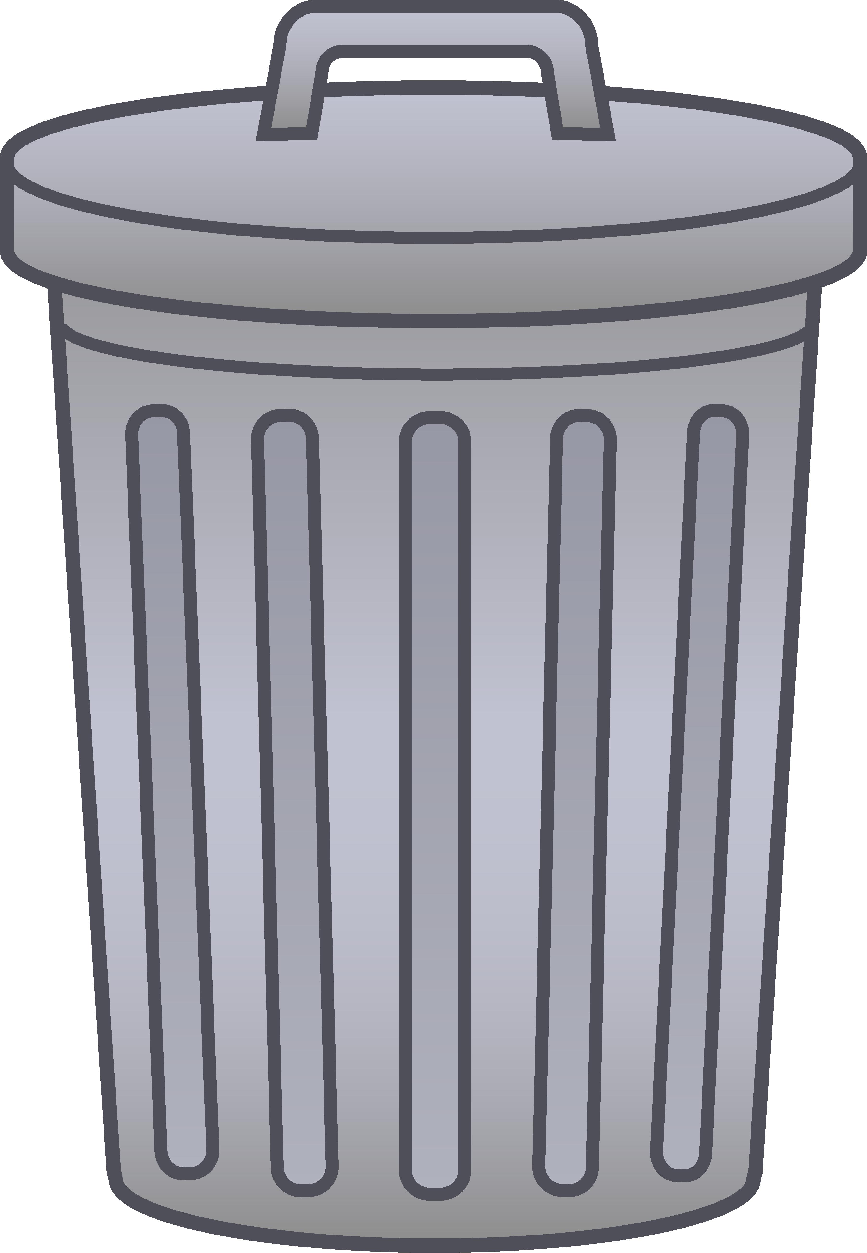 Trash bin clip art.