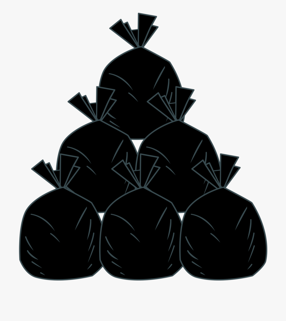 Vector Freeuse Stock Garbage Bags Clipart.