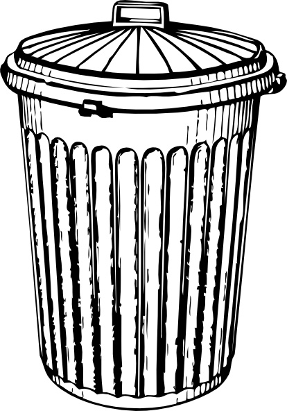 Trash Can clip art Free vector in Open office drawing svg ( .svg.