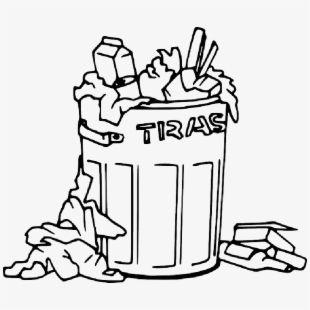PNG Trash Can Black And White Cliparts & Cartoons Free.