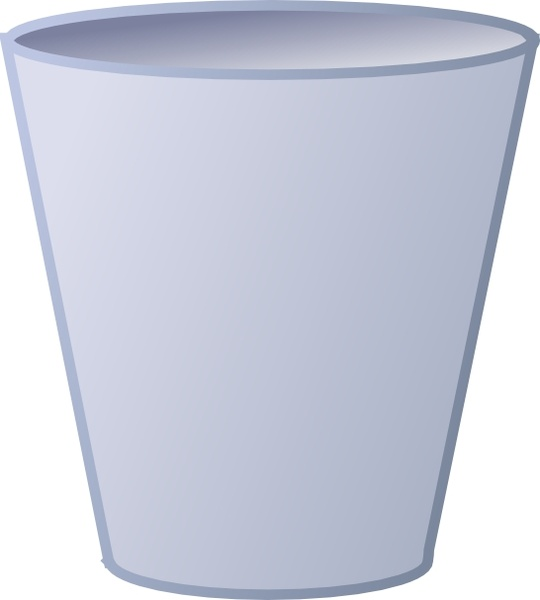 Empty Trash Can clip art Free vector in Open office drawing svg.