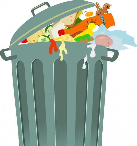 Trash Can Clip Art Free Stock Photo.