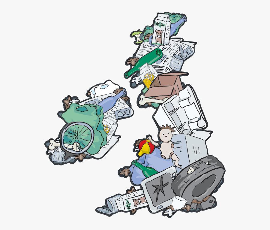 Cartoon Garbage Pile , Free Transparent Clipart.