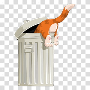 Waste container , Garbage rat in the garbage can transparent.