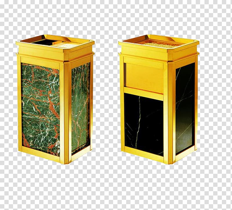 Waste container Stainless steel Hotel, 2 gold stainless.