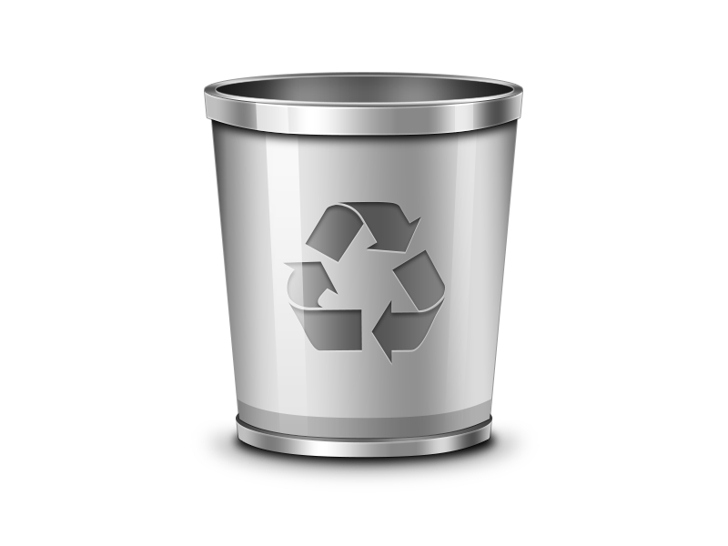 Trash Recycling bin Waste container Icon.