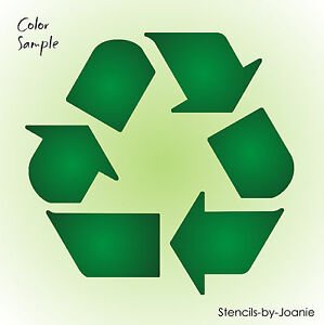 Details about Joanie Stencil Recycle Green Symbol Logo Bin Label Trash Can  Art Craft DIY Sign.