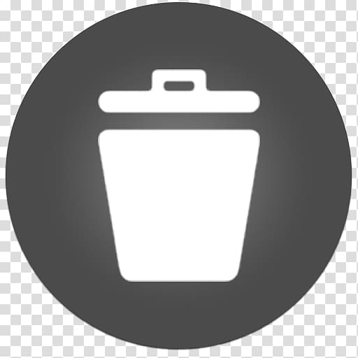 Trash can logo, symbol font, Trash 2 transparent background.