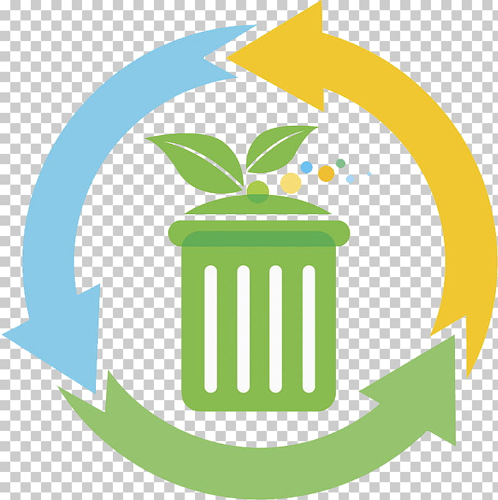 Waste container Logo, Creative trash can PNG clipart.