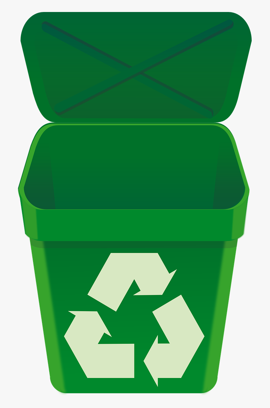 Open Trash Can Png.