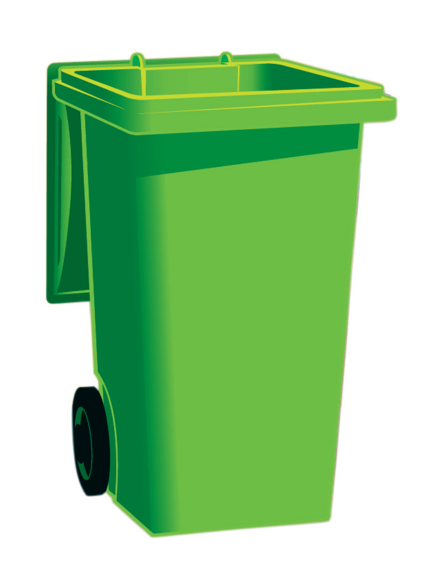 Green garbage can clipart.