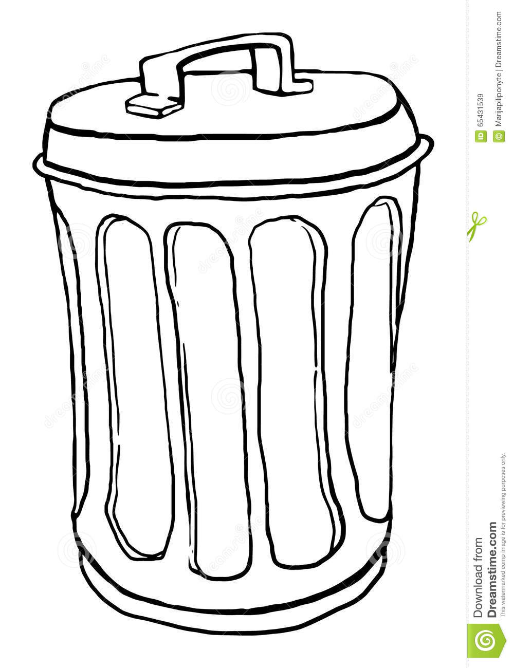 Trash Can Stock Vector.