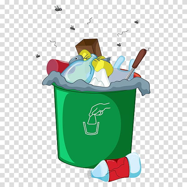 Green garbage bin, Waste container Odor Landfill, A messy.